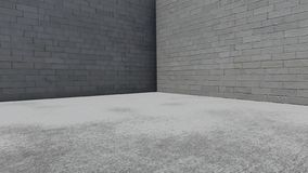 Concrete wall background. 3d rendering royalty free illustration