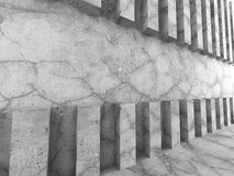 Concrete wall background. Minimalistic modern architecture. 3d render illustration Royalty Free Stock Photography