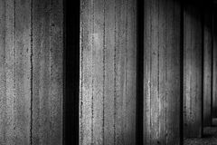 Concrete wall - black and white. In Berlin, Germany Royalty Free Stock Image