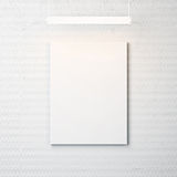 Concrete wall with blank poster and spotlight Stock Photography