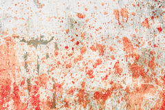 Concrete wall with blood splatters Stock Photography