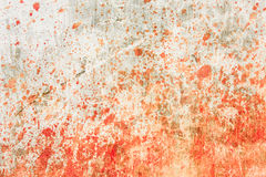 Concrete wall with blood splatters Stock Image
