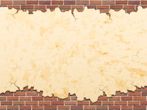 Concrete wall and bricks vector grunge background Royalty Free Stock Photo