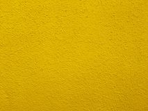 Concrete wall in bright yellow color Stock Photography