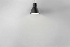 Concrete wall and ceiling lamp Stock Photos