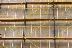Concrete wall with scaffolding Stock Image
