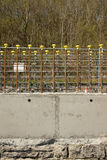 Concrete wall construction. Royalty Free Stock Image