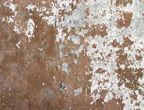 Concrete wall covered cracked paint and dirt Royalty Free Stock Image