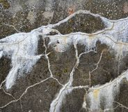 Concrete wall with cracks Royalty Free Stock Image