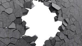 Concrete wall crash Stock Photos