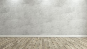 Concrete wall 3d rendering Royalty Free Stock Photos