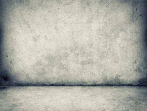 Concrete wall and floor. Gray concrete wall and floor royalty free stock image