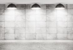 Concrete wall and floor interior background 3d rendering Stock Photos