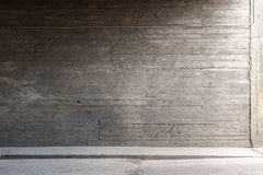 Concrete wall and floor. Urban background. Empty concrete wall and floor royalty free stock photo