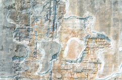 Concrete wall, frost damage. Stock Photos