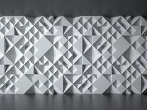 Concrete wall with geometrical 3d pattern Royalty Free Stock Photos