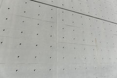 Concrete wall with holes Stock Photography