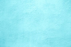 Concrete wall of light blue color, texture turquoise cement back Stock Photography