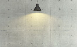 Concrete wall loft style decor with under light, background, tem. Concrete wall loft style under spot light effect, background, template design Royalty Free Stock Image