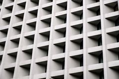 Concrete wall of modern building background royalty free stock photos