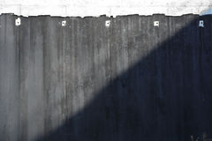 Concrete wall, part of highway construction Stock Photography