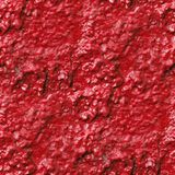 Concrete wall of red paint drips rough surface Royalty Free Stock Photography