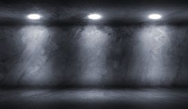 Concrete Wall Room with Floor Empty Garage royalty free stock photography