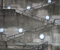 Concrete wall with staircase Stock Photo