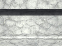 Concrete wall with sunlight. Architecture abstract background. 3d render illustration stock illustration