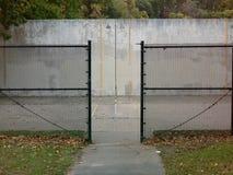 Concrete wall for tennis preactice. Stock Photos