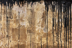 Concrete wall texture with black flows Stock Photo