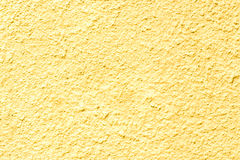 Concrete wall texture yellow Royalty Free Stock Image
