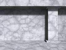Concrete wall under sun light. Abstract architecture background. 3d render illustration Stock Photography
