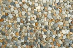 Washed Cobble Wall Background Stock Images