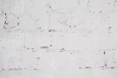 Concrete wall with whitewash layer Stock Image