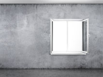 Concrete wall with window Stock Photos