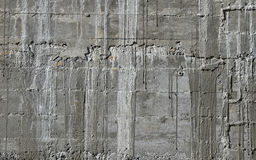 Concrete wall with wooden pattern impress from wooden form board Royalty Free Stock Photography