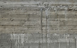Concrete wall with wooden pattern impress from wooden form board Stock Image