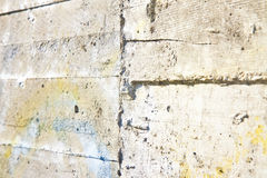 Concrete wall - You can see the footprints of the timber used fo Stock Images