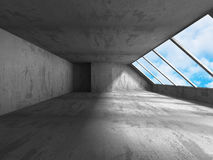 Concrete walls empty room interior. Abstract architecture with s Stock Photography