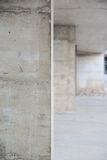 Concrete walls perspective background. Vanishing point Stock Photos