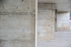 Concrete walls perspective background. Vanishing point Royalty Free Stock Photo
