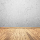Concrete walls and wood floor for text and Royalty Free Stock Photos