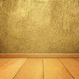 Concrete walls and wood floor for text and background Stock Photography