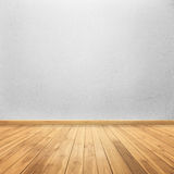 Concrete walls and wood floor for text and background Stock Image