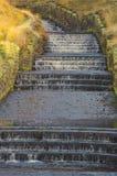 Concrete water cascade Dovestone Reservoir England Royalty Free Stock Image