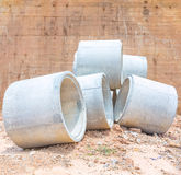 Concrete water pipes stacked Stock Photography
