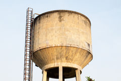 Concrete water tower. Pic of concrete water tower Stock Photos