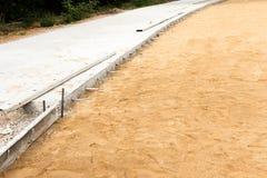 Concrete Wegenbouw Royalty-vrije Stock Foto's