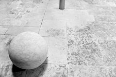Concrete white ball Stock Photo